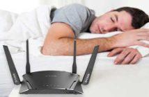wifi router in bedroom